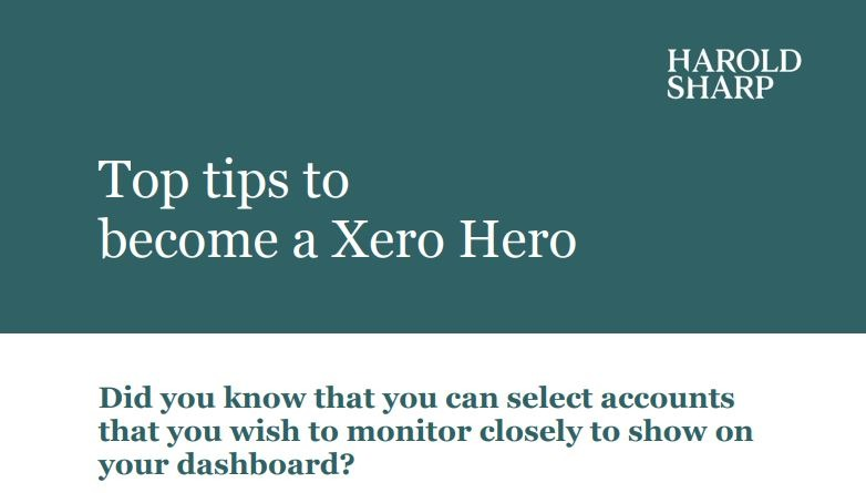 Select accounts to monitor on dashboard